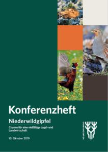 Cover des Konferenzheftes zum Niederwildgipfel
