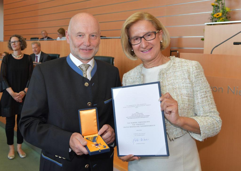 Alois Gansterer und Johanna Mikl-Leitner