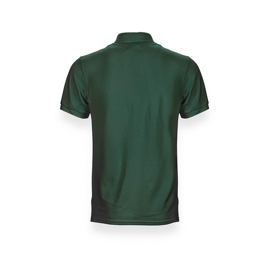 Grünes Poloshirt für Frauen in Rückansicht