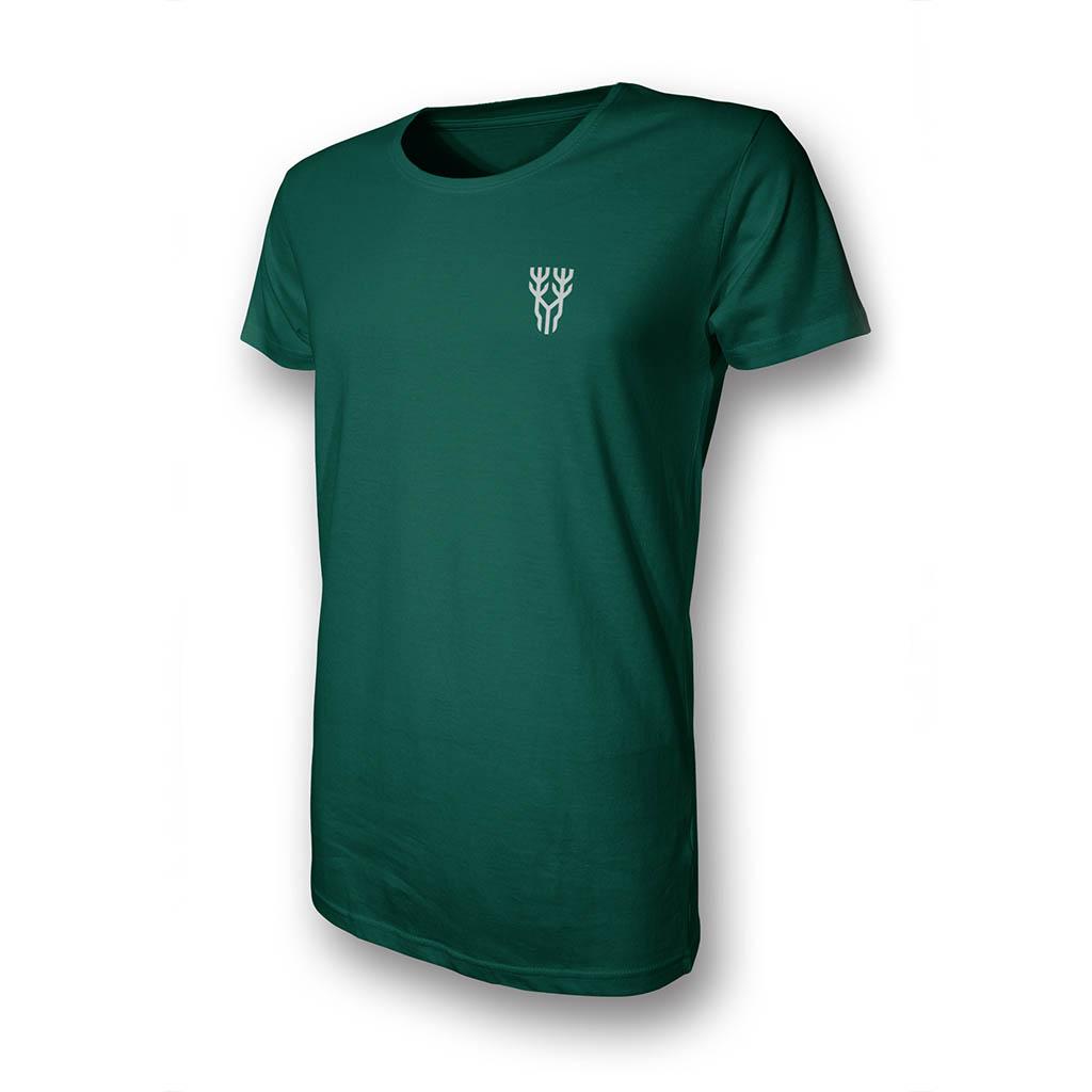 Grünes T-Shirt in Vorderansicht
