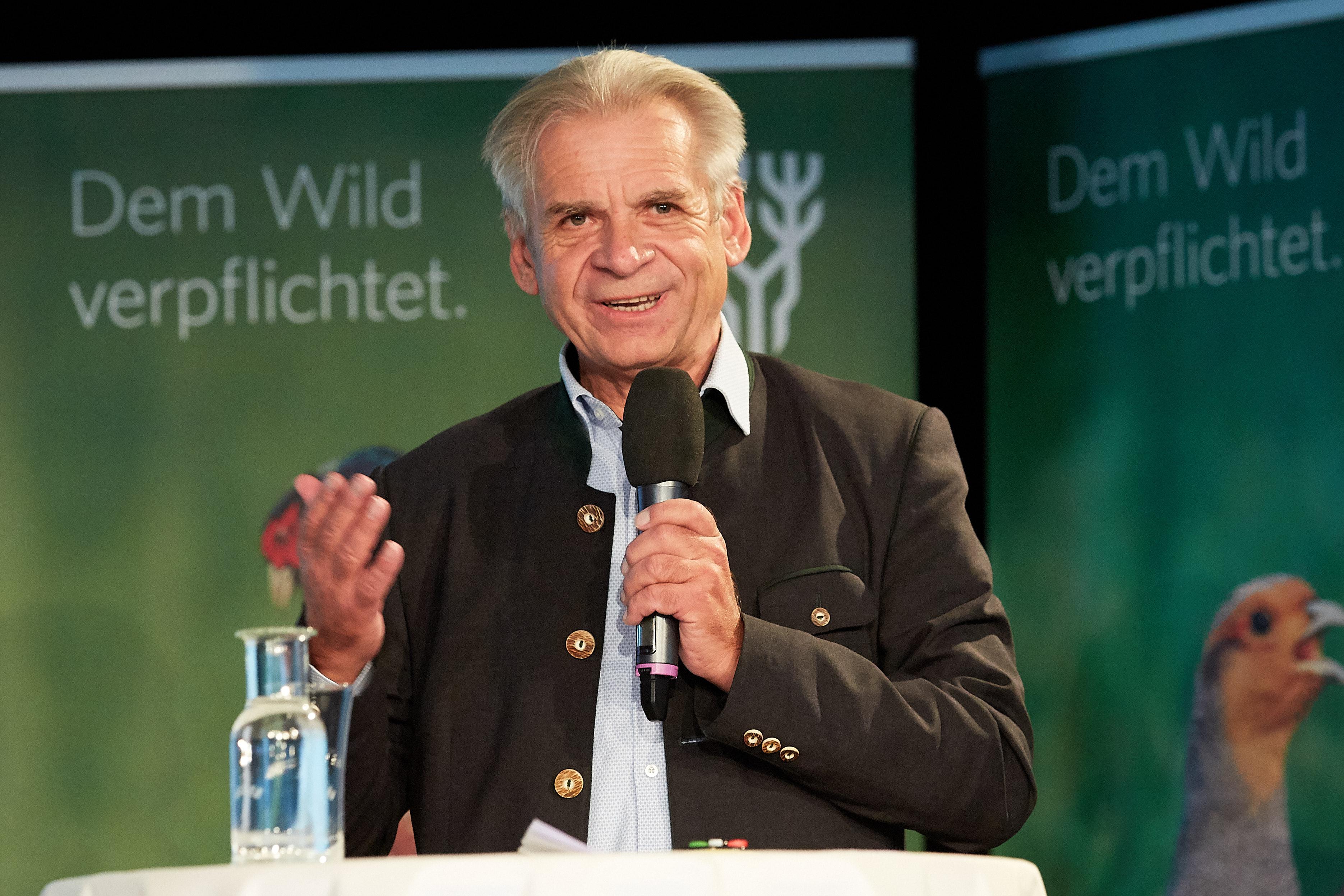 Miroslav Vodnansky beim Niederwildgipfel des NÖ Jagdverbandes
