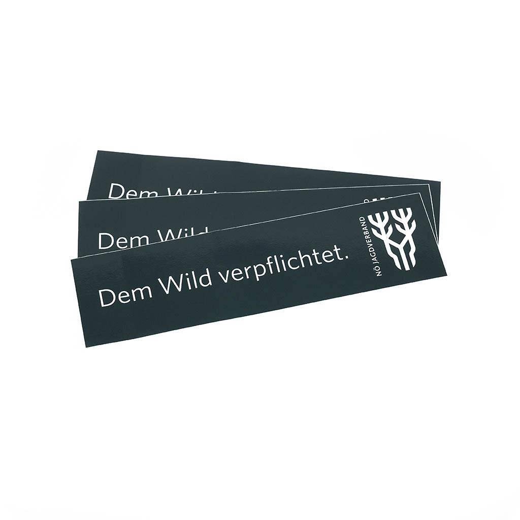 """Drei Autoaufkleber """"Dem Wild verpflichtet"""""""