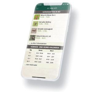 Bild von Smartphone mit App